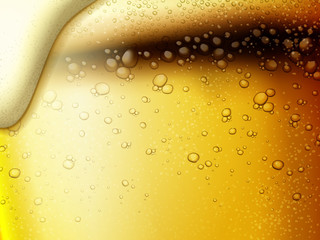 Refreshing fizzy beer background