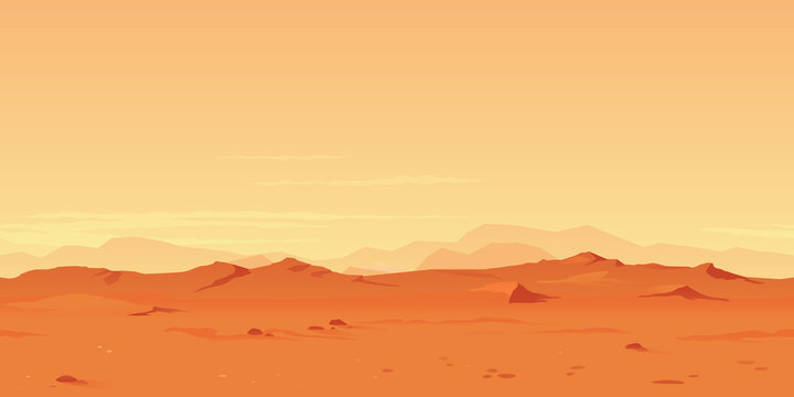 Martian Landscape Background