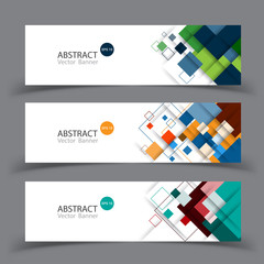 Vector abstract geometric design banner template.Vector.