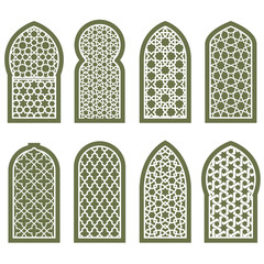 Figured arabian window ornament - grating arabesque pattern