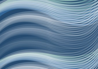 White waves of dark blue background, abstract vector image corresponding with sea theme