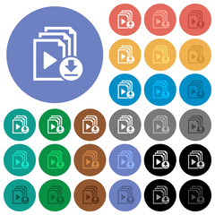 Download playlist round flat multi colored icons