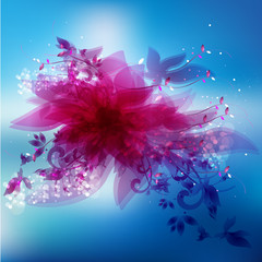 Beautiful abstract flower with abstract design elements.