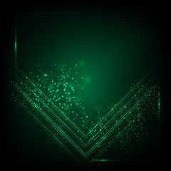 Abstract green background. Abstract technology background.
