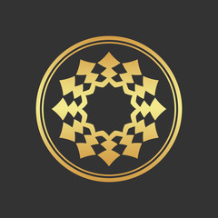 Abstract gold element. Gold decoration.