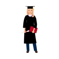 University female student graduate
