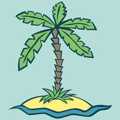 Vector illustration of an island