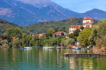 Lake Avigliana in Northern Italy.