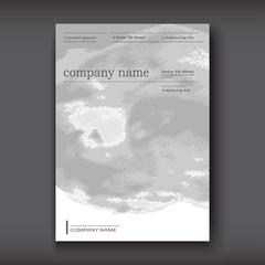 White grey gradient Watercolor explosion shape artistic covers design. Decorative texture paint fluid colors backgrounds. Trendy template vertical vector illustration