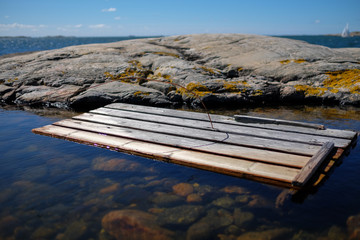 wooden plank at Vrango coast