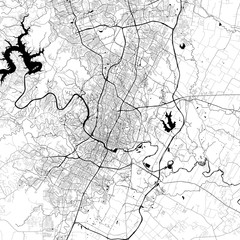 Austin Monochrome Vector Map