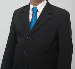 Businessman in suit at studio