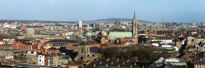 Dublin Ireland city skyline panorama