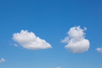 Light gentle cloud on a blue sky