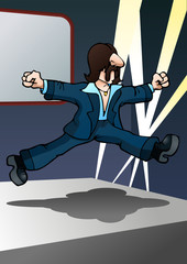 man do jumping dance