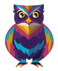 colorful cute owl