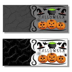 Abstract vector illustration of logo for celebrating children's holiday Halloween.