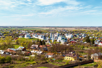 View from the belfry in center of Sights of Suzdal in Vladimir region