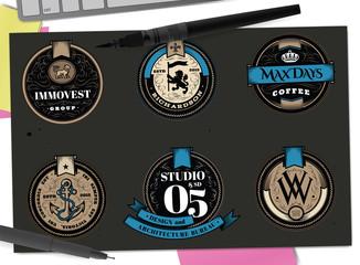 Monogram design elements, graceful template. Elegant line art logo design. Retro Vintage Insignia or Logotype. Business sign, identity, label, badge, Cafe, Hotel. Vector illustration.