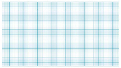 Millimeter Paper Vector. Blue. Graphing Paper For Education, Drawing Projects. Classic Graph Grid Paper Measure Illustration