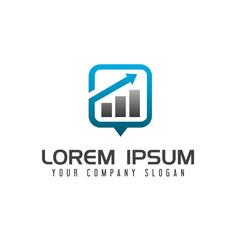 Data Chart Business logo design concept template
