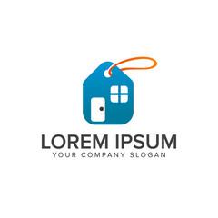 Real estate label sale logo design concept template
