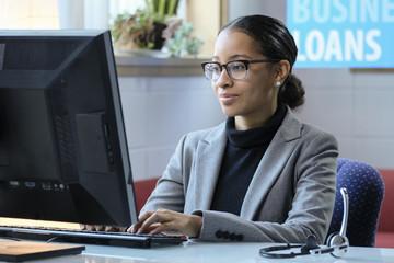 Portrait of a female business loan officer