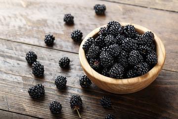 ripe organic blackberry
