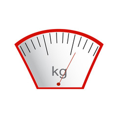 The concept of weight loss, healthy lifestyles, diet, proper nutrition. Weight scales. Vector. Hand-painted