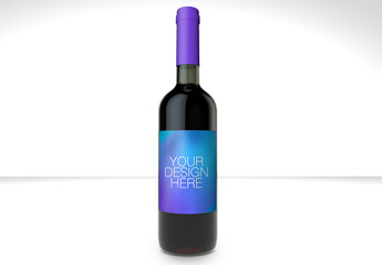 Wine Bottle Mockup 1