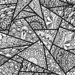 Seamless pattern - ornamental triangles.
