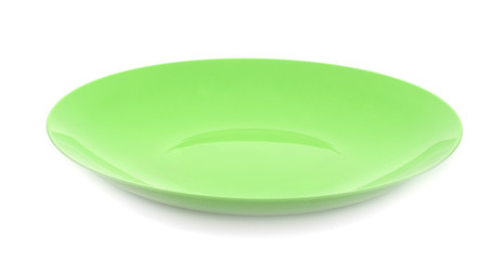 Plastic plate isolated