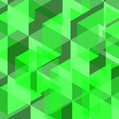 Abstract green color of geometric shape background (Used for environment concept, presentation, business template)