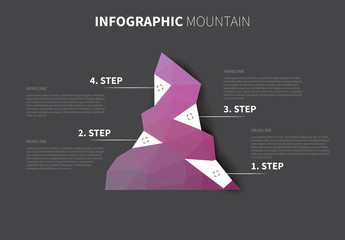 Mountain Infographic Layout
