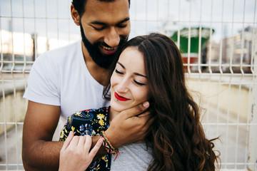 Beautiful multiracial couple