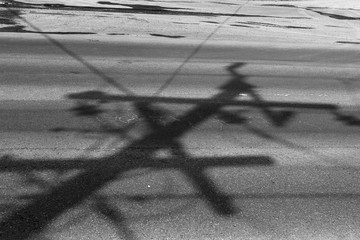 Abstract Shadow Background Black and White