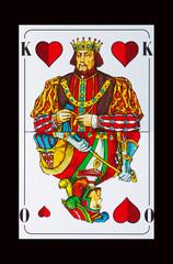 SPIELKARTEN-COLLAGEN - König sticht den Ober