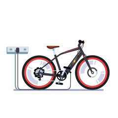 Electric bicycle charging batteries with outlet