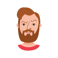Male hipster cartoon character