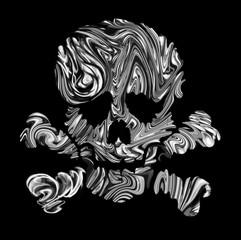 Skull of the dead.