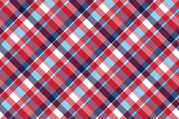 Red check plaid seamless fabric texture