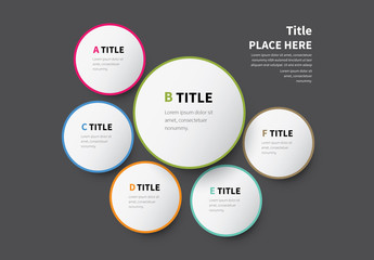 Six Circles Infographic Layout