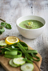 Cucumber Soup with Mint