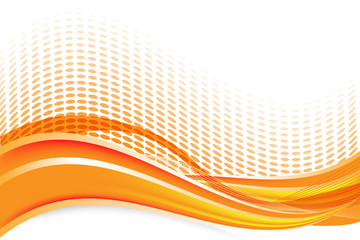 Beautiful vector abstract orange background with waves