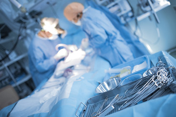 Urgent surgical treatment of patient in the ICU