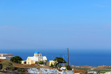 Traditional Santorini Buildings and Architecture of Greece