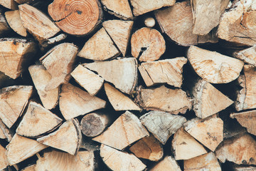 Natural firewood background