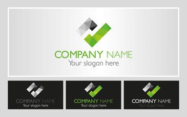 Nowoczesne logo dla firmy zielone ok