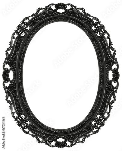 Black baroque oval frame\