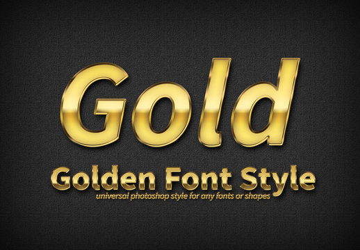 Gold Text Style 3